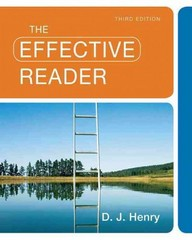 The Effective Reader 3rd Edition 9780205780884 0205780881