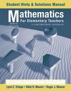 Mathematics for Elementary Teachers: A Contemporary Approach, Student Hints and Solutions Manual 9th edition 9780470531358 0470531355