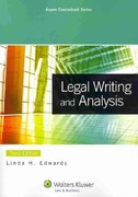 Legal Writing and Analysis 3rd Edition 9780735598508 0735598509
