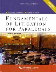 Fundamentals of Litigation for Paralegals 7th Edition 9780735598690 073559869X