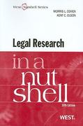 Legal Research in a Nutshell 10th edition 9780314264084 0314264086
