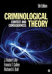 Criminological Theory 5th Edition 9781412981453 141298145X