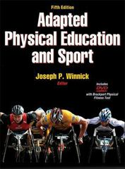 Adapted Physical Education and Sport 5th Edition 5th edition 9781450447164 1450447163