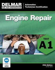 ASE Test Preparation - A1 Engine Repair 5th Edition 9781111127039 1111127034