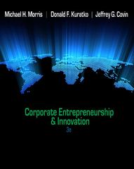Corporate Entrepreneurship & Innovation 3rd edition 9780538478922 0538478926