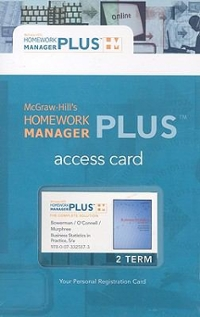 Connect Plus Access Card for Business Statistics in Practice 6th edition 9780077333980 0077333985