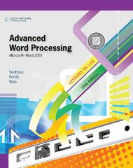 Advanced Word Processing, Lessons 56-110: Microsoft Word 2010 (College Keyboarding) 18th Edition 9780538495400 0538495405