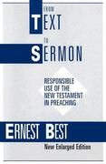 From Text to Sermon 1st edition 9780567291431 056729143X
