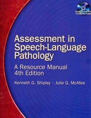 Assessment in Speech-Language Pathology 4th Edition 9781418053284 1418053287