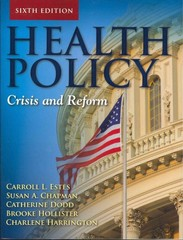 Health Policy 6th Edition 9780763797881 076379788X