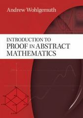 Introduction to Proof in Abstract Mathematics 1st Edition 9780486478548 0486478548