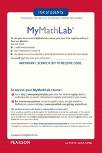 Calculus with MyMathLab Inside Star Sticker and MyMathLab -- Glue-in Access Card 1st edition 9780321718679 0321718674