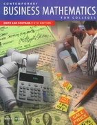 Contemporary Business Mathematics for Colleges, Brief Course 12th edition 9780538868839 053886883X