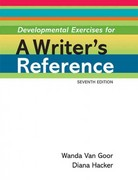 Developmental Exercises for A Writer's Reference 7th edition 9780312648985 0312648987