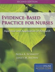 BOOK ALONE - Evidence-Based Practice For Nurses 2nd Edition 9780763794675 0763794678