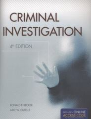 Criminal Investigation 4th Edition 9781449602154 1449602150