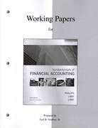Working Papers to accompany Fundamentals of Financial Accounting 3rd Edition 9780077269708 0077269705
