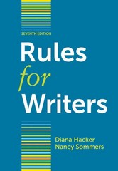 Rules for Writers 7th edition 9780312647360 0312647360
