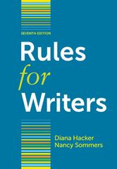 Rules for Writers with Writing about Literature (Tabbed Version) 7th Edition 9781457624575 1457624575