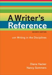 A Writer's Reference with Writing in the Disciplines 7th edition 9780312601447 0312601441