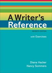 A Writer's Reference with Exercises 7th edition 9780312601478 0312601476