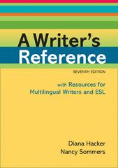 A Writer's Reference with Resources for Multilingual Writers and ESL 7th edition 9780312649364 0312649363