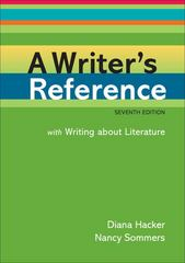 A Writer's Reference with Writing about Literature 7th edition 9780312601485 0312601484
