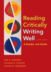 Reading Critically, Writing Well 9th Edition 9780312607616 031260761X