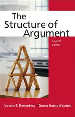 The Structure of Argument 7th edition 9780312650698 0312650698