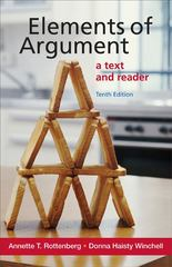 Elements of Argument 10th Edition 9781457610059 1457610051