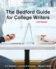 The Bedford Guide for College Writers with Reader 9th edition 9780312601546 0312601549