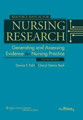 Resource Manual for Nursing Research 9th Edition 9781605477824 1605477826