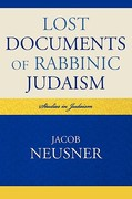 Lost Documents of Rabbinic Judaism 0 9780761852414 0761852417