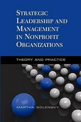 Strategic Leadership and Management in Nonprofit Organizations 0 9781933478685 1933478683