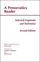 A Presocratics Reader 2nd Edition 9781603843058 1603843051