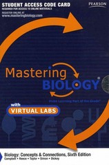 MasteringBiology with MasteringBiology Virtual Lab -- Standalone Access Card -- for Biology 6th edition 9780321736505 0321736508