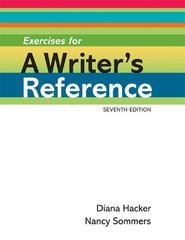 Exercises for A Writer's Reference Large Format 7th edition 9780312649005 0312649002