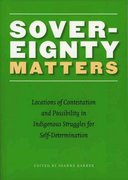 Sovereignty Matters 1st Edition 9780803262515 0803262515