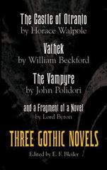 Three Gothic Novels 2nd Edition 9780486212326 0486212327