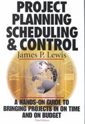 Project Planning, Scheduling and Control 3rd edition 9780071360500 0071360506