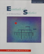 Essentials of Statistics for the Behavioral Sciences 3rd edition 9780534357801 0534357806