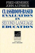 Classroom-Based Evaluation in Second Language Education 0 9780521566810 0521566819