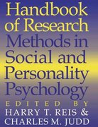 Handbook of Research Methods in Social and Personality Psychology 1st edition 9780521559034 0521559030