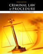 Criminal Law and Procedure 3rd edition 9780534535056 0534535054