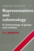 Representations and Cohomology 0 9780521636520 0521636523