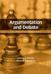 Argumentation and Debate 12th Edition 9781111799892 111179989X