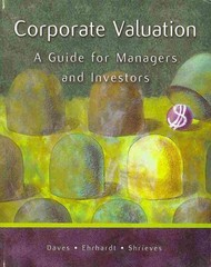 Corporate Valuation 1st edition 9780324290738 032429073X