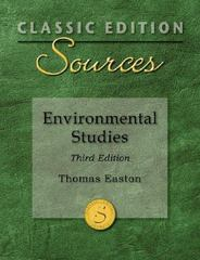 Classic Edition Sources: Environmental Studies 3rd edition 9780073527581 0073527580