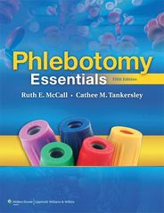 Phlebotomy Essentials 5th Edition 9781605476377 1605476374
