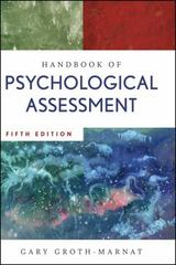 Handbook of Psychological Assessment 5th edition 9780470083581 0470083581